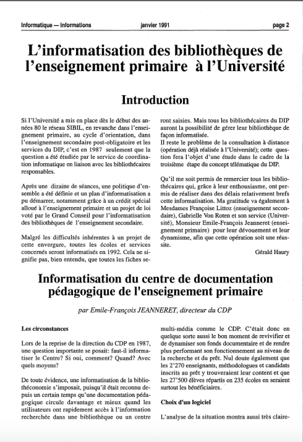 SB-330-Informatique Informations – N°14 -DIP – (janvier-1991)-2