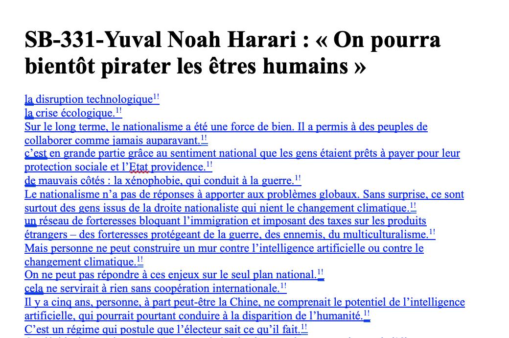 SB-331-Yuval Noah Harari – « On pourra bientôt pirater les êtres humains »
