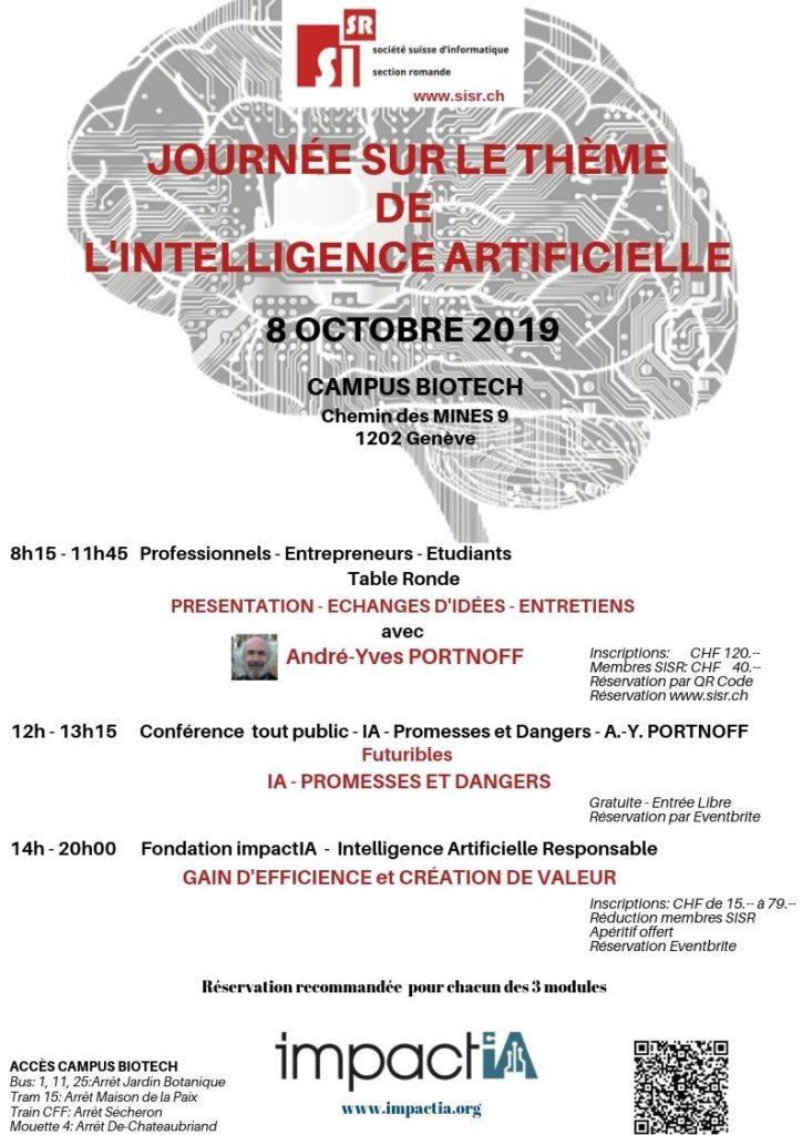 Conférence sur les IA à Genève le 8 octobre, campus Biotech